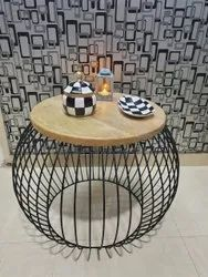 IRON Black Coffee Table, For Hotel, Size: 50x36