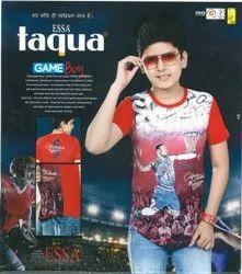 ESSA Taqua Casual Wear Kids Half Sleeves Cotton T Shirt, Size: 18-32 inch