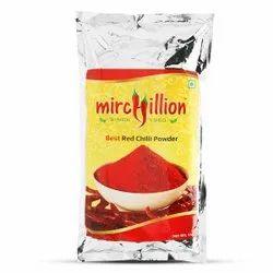 Mirchillion Spicy Guntur Hot Best Red Chilli Powder 1kg Saver Pack, Packaging Type: Packet