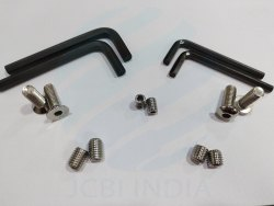 JCBI INDIA Round Stainless Steel Screw for Hardware Fitting, Material Grade: SS 304