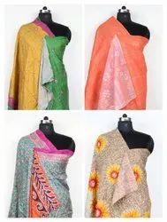 Woman Silk Kantha Stole Wholesaler