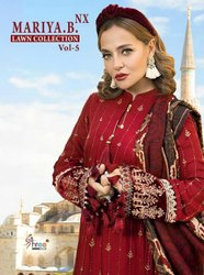 Shree Fabs Maria B Lawn Collection Vol 5 NX Jam Cotton Embroidered Pakistani Dress Material Catalog