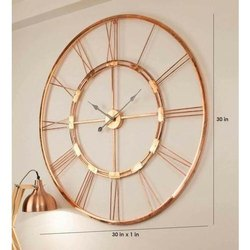 Metal Frame Round Wall Clock