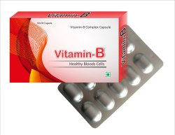 Orange Capsules Vitamin B Complex, Grade Standard: Food, Packaging Size: 60 Caps