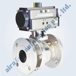 Pneumatic 2 Pc. Design Floating Ball Valve