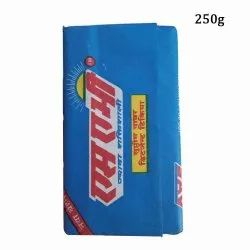 Blue 250 g Detergent Cake, Packaging Type: Packet, Shape: Rectangle