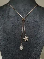 92.5% Chain With Pendant Silver Fancy Jewelry