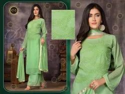 Gorgeous Green Palazzo Suit