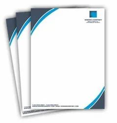 Paper Full Color Letterhead Printing Services, Location: India