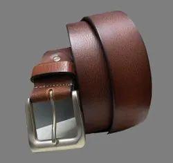 Formal Wear Mens Brown Plain Leather Belt