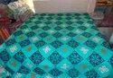 Handmade Applique Whiter Bed Cover