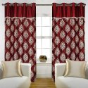 white and red designer curtain