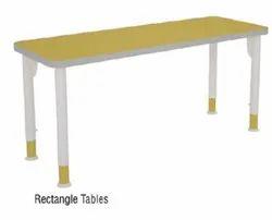 Rectangular Yellow Rectangle Wooden School Table, Size: 1200x450x600mm
