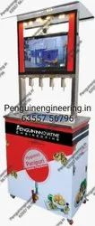 4 Nozzle Pani Puri Filling Machine With LCD TV & Serve Counter & Camera