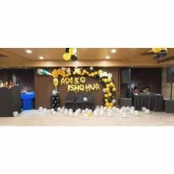 Golden and Black Engagement Party Decoration Services, in Kolkata