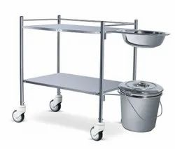 Dressing Trolley With Bowl- Bucket