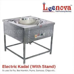 Leenova Ss Electric Kadai With Stand, Capacity: 10 L
