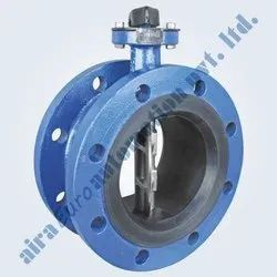 Rubber Lined AWWA C 504 Double Flange Butterfly Valve ( Short Pattern )
