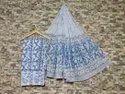 Hand Block Printed Cotton Suit Set With Mul Mul Cotton Dupatta