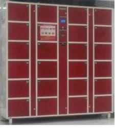 Microleaf Multiple Door RFID/Fingerprint/Bar Code/PIN Smart Locker Electronic Lockers, Size: 6*6*1.5 Feet, No Of Lockers: 24
