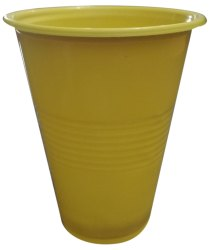 Plain Yellow Disposable Plastic Glass