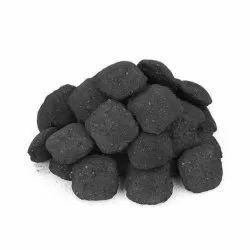 Black Charcoal Briquettes, For Burning, Packaging Size: 25 Kg