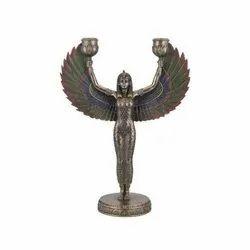 Goddess Embellished Candle Holder
