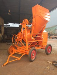 Full Bag Concrete  Mixer With Hopper Electric Operated