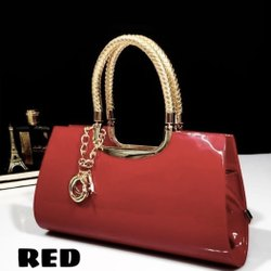 Red Leather Party Wear Bag