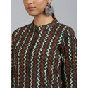 Janasya Women's Dark Green Cotton Kurta (JNE3550)
