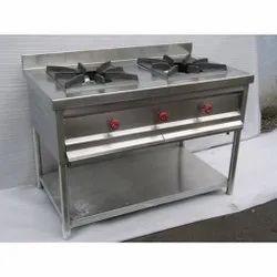 Pankti 2 Two Burner Gas Cooking Range, For Hotel