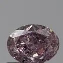 Oval 0.50ct I2 Fancy Purple Pink GIA Certified Natural Diamond
