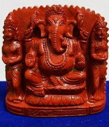Ganeshji With Riddhi -siddhi Of Natural Jasper