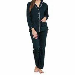 Full Length Printed Ladies Cotton Night Suit, Medium