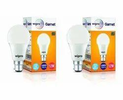 Ceramic Round 12 W Wipro LED Bulb, For Indoor