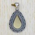 Silver Jewelry Silver And Brass Gemstone Pendant SJWP-17