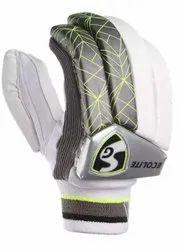 Velcro White SG Ecolite Batting Gloves RH, For Cricket