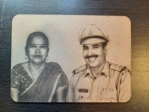 Engraved Photo On Wood