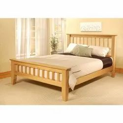 5 ft x 6.3 ft Wooden Bed