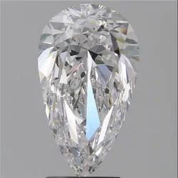 Pear 3ct E VVS1 Natural HPHT GIA Certified Natural Diamond