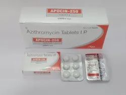 Each film coated tablet contains :  Azithromycin 250