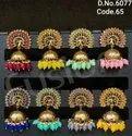 Ethnic Polki Jhumka Earrings
