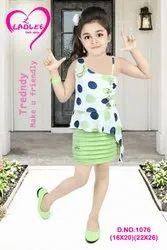 Georgette Blue Designer Kids Ethnic Wear