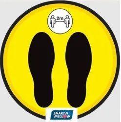 Social Distancing Floor Sticker ( Coronavirus Stickers & Posters )