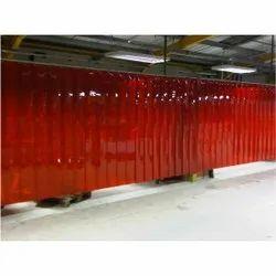 Red PVC Strip Curtain