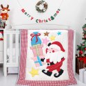 Christmas Baby Bedding Applique Embroidered Made In Soft Cotton Fabric