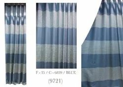 Polyester Blue Decorative Curtain, For Door, Size: 7*4 Feet