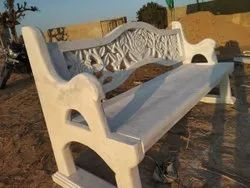 White Marble Carving Garden Bench