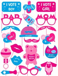 Baby Shower Props For Photoshoot, Photo Booth, Decorations 20 Pcs