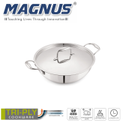 Magnus Triply Induction Kadai With SS Lid, 200mm, Steel - Aluminum - Steel, 1.7 litre